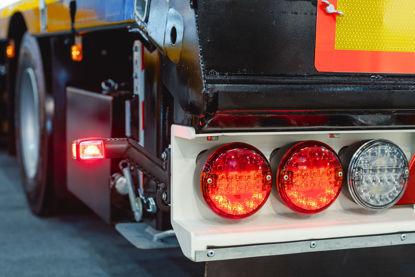 closeup of rear brake lights