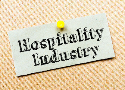 cork board with sign Hospitality Industry