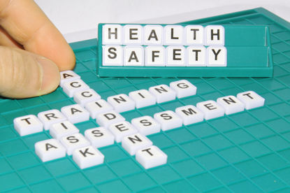crossword puzzle of health and safety words