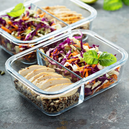 healthy meal in a portion container