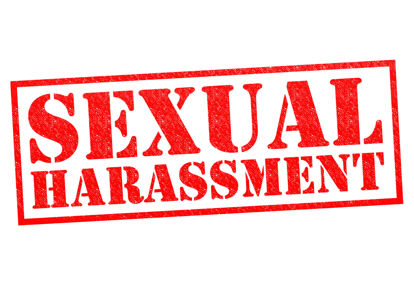 sign with sexual harassment on it