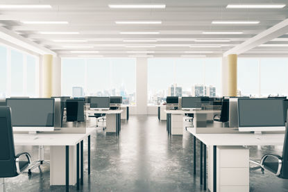 interior of an empty office