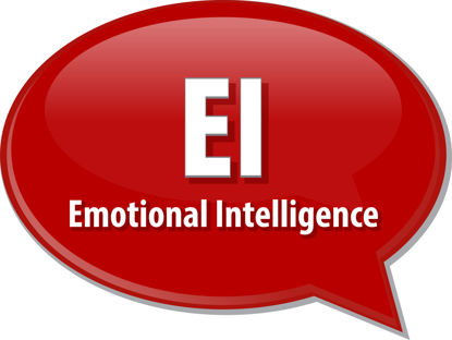 Emotional Intelligence in a speech bubble