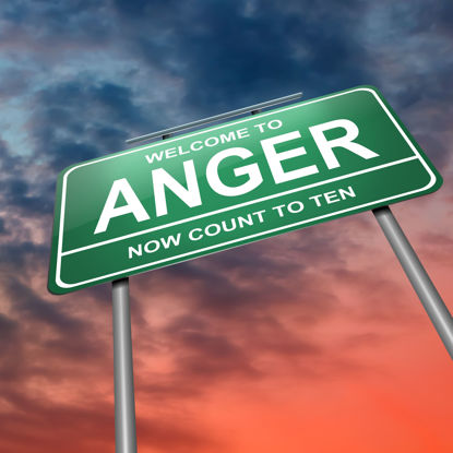 sign stating Welcome to anger: now count to 10