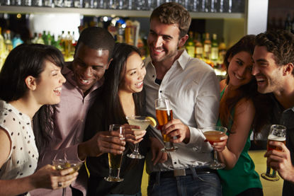 group of people drinking