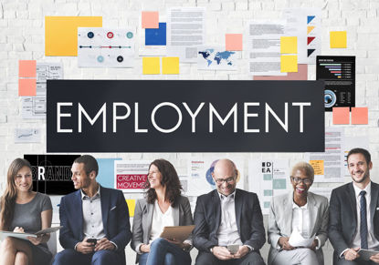group of people with the word employment over their heads
