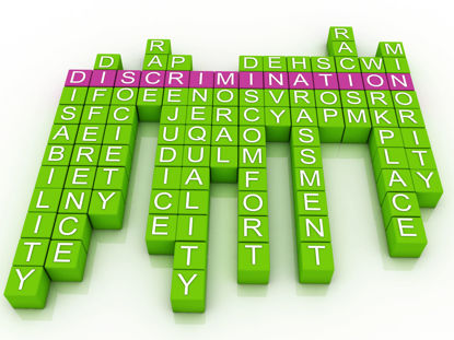 crossword of words related to discrimination