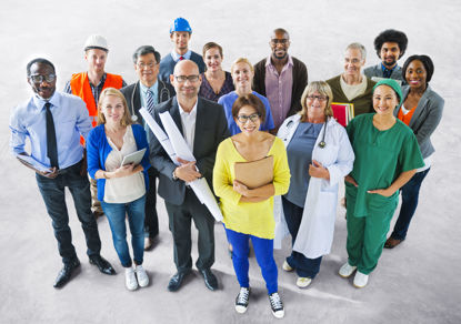 group of people representing different jobs