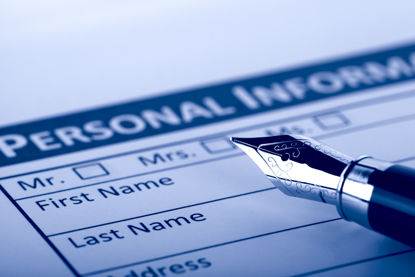 form requiring personal information