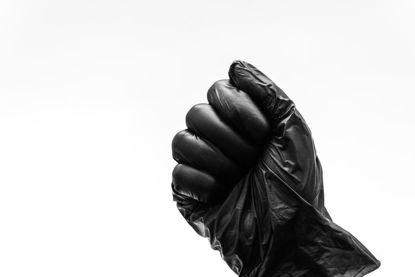 fist in a glove