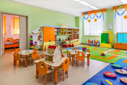 empty early childhood classroom