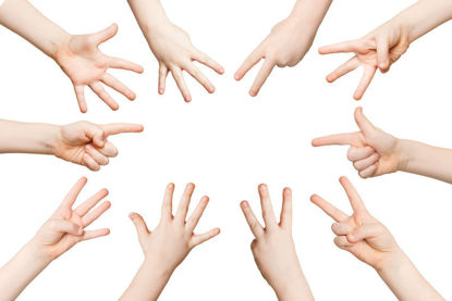 fingers representing numbers