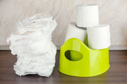 diapers and training toilet