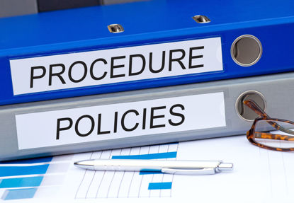 words procedure and policies on notebooks