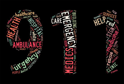 911 with word cloud