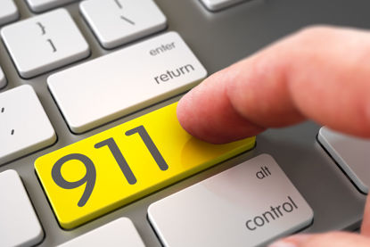 911 button on a computer