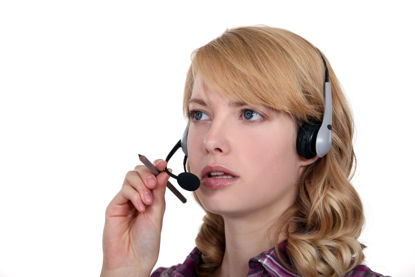 person on a headset