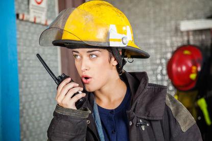 person on walkie talkie