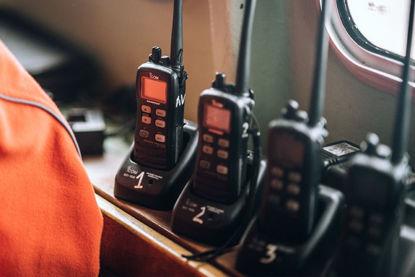 row of walkie talkies
