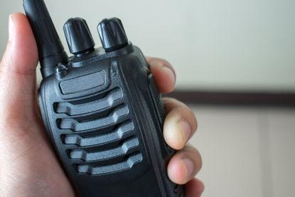 hand holding radio communication