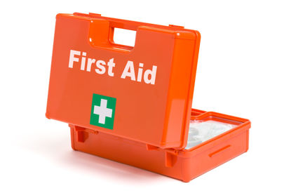 opened first aid kit
