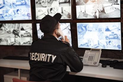officer monitoring camera