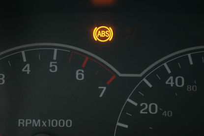 antilock brake system warning light on dash