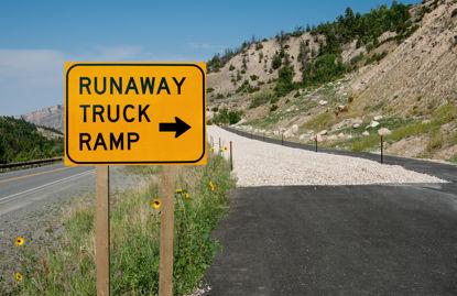 runaway truck ramp highway sign