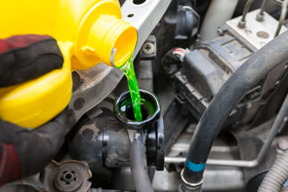 coolant being added to engine