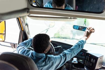 driver adjusting  mirror